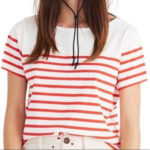 Madewell cropped strippe
